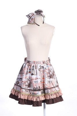 71043 Steampunk Alice Skirt with Headband