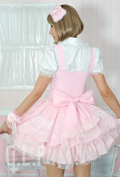 81024 Musical Carriage Babydoll Dress