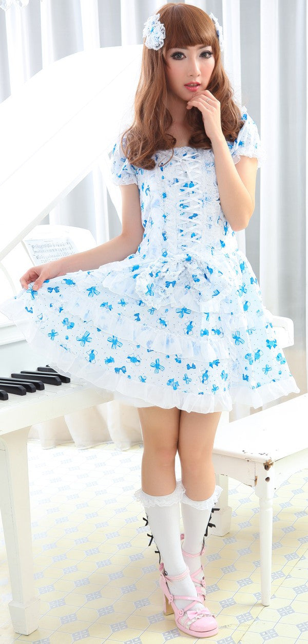 81049 Blue Bows Dress