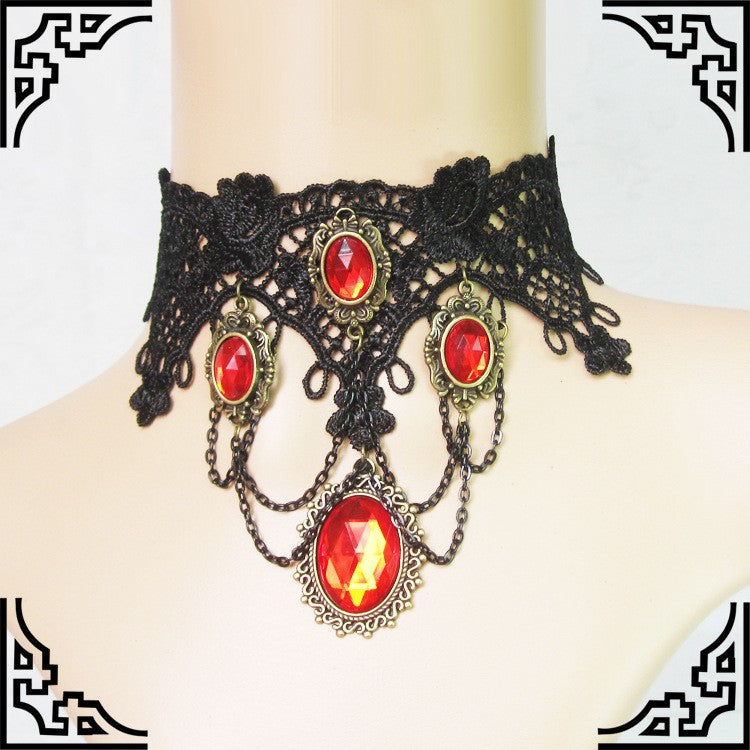 GY019 Amber Jewels Choker