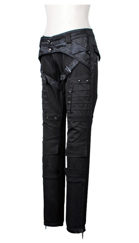 K-102 Strapped Cyber Studded Pants
