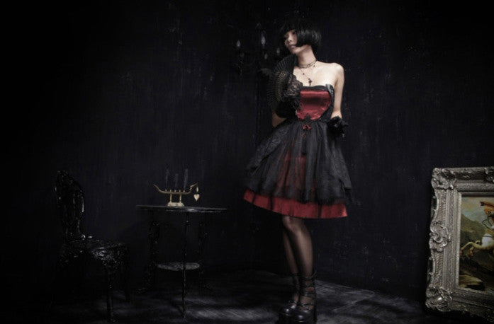 LQ-040 Gothic Cocktail Dress