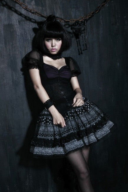 LQ-054 Polka Dot Lolita Skirt with Train