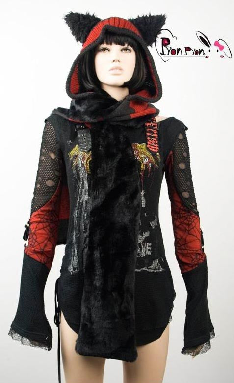 LS-002 Kitty Scarf Hood