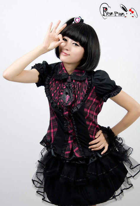 LY-009 Punk Tart Lolita Blouse with Tie
