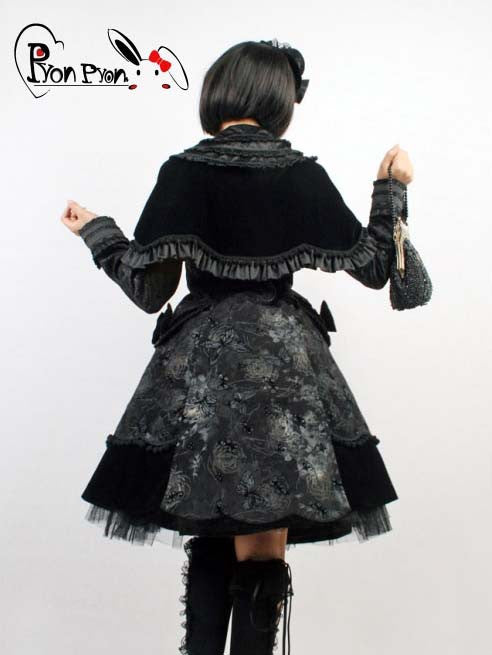 LY-021 Butterfly Lolita Coat with Mantle