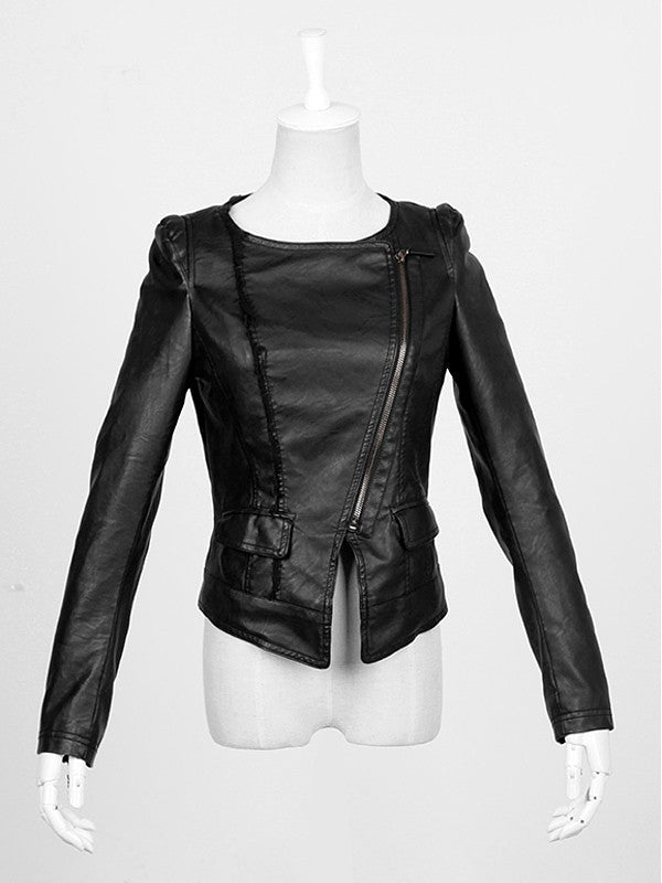 PY-030 Skull Moto Leather Jacket