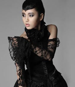 S-132 Epic Bell Sleeve Lace Arm Gloves