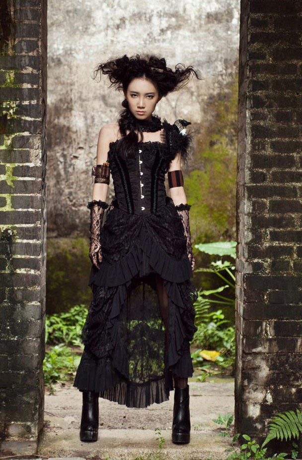 SP067 Steampunk Victorian Skirt
