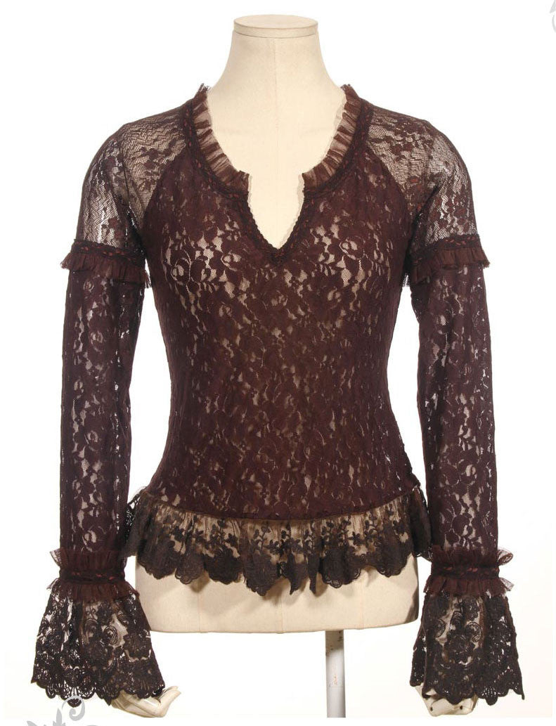 SP098 Lace Flora Top