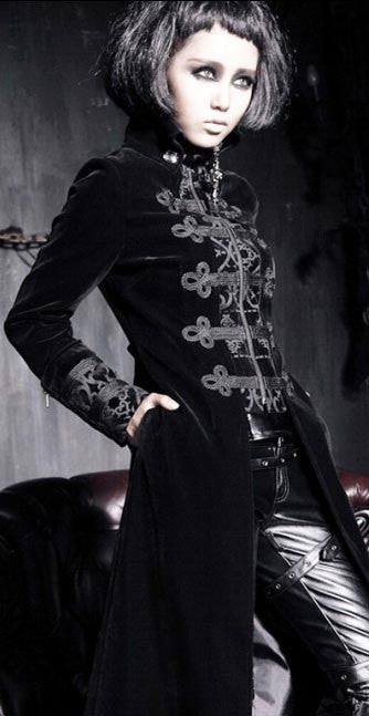 Y-401 Velvet Vampire Aristocrat Long Coat