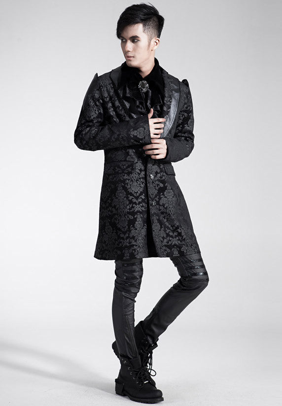 Y-448 Men's Brocade Smoking Jacket
