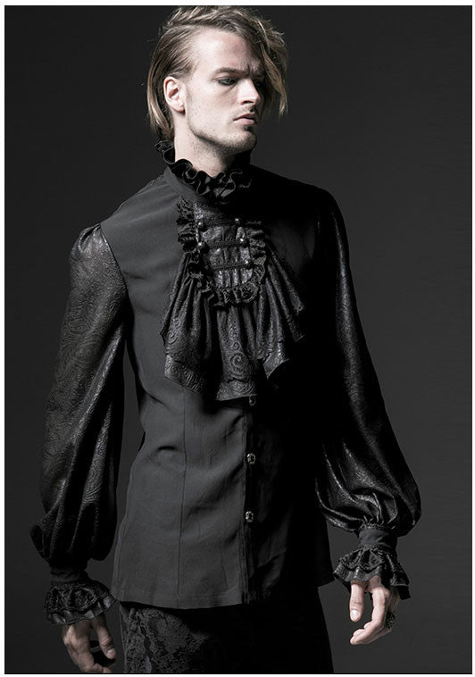 Y-522 Gothic Vampire Shirt with Cravat