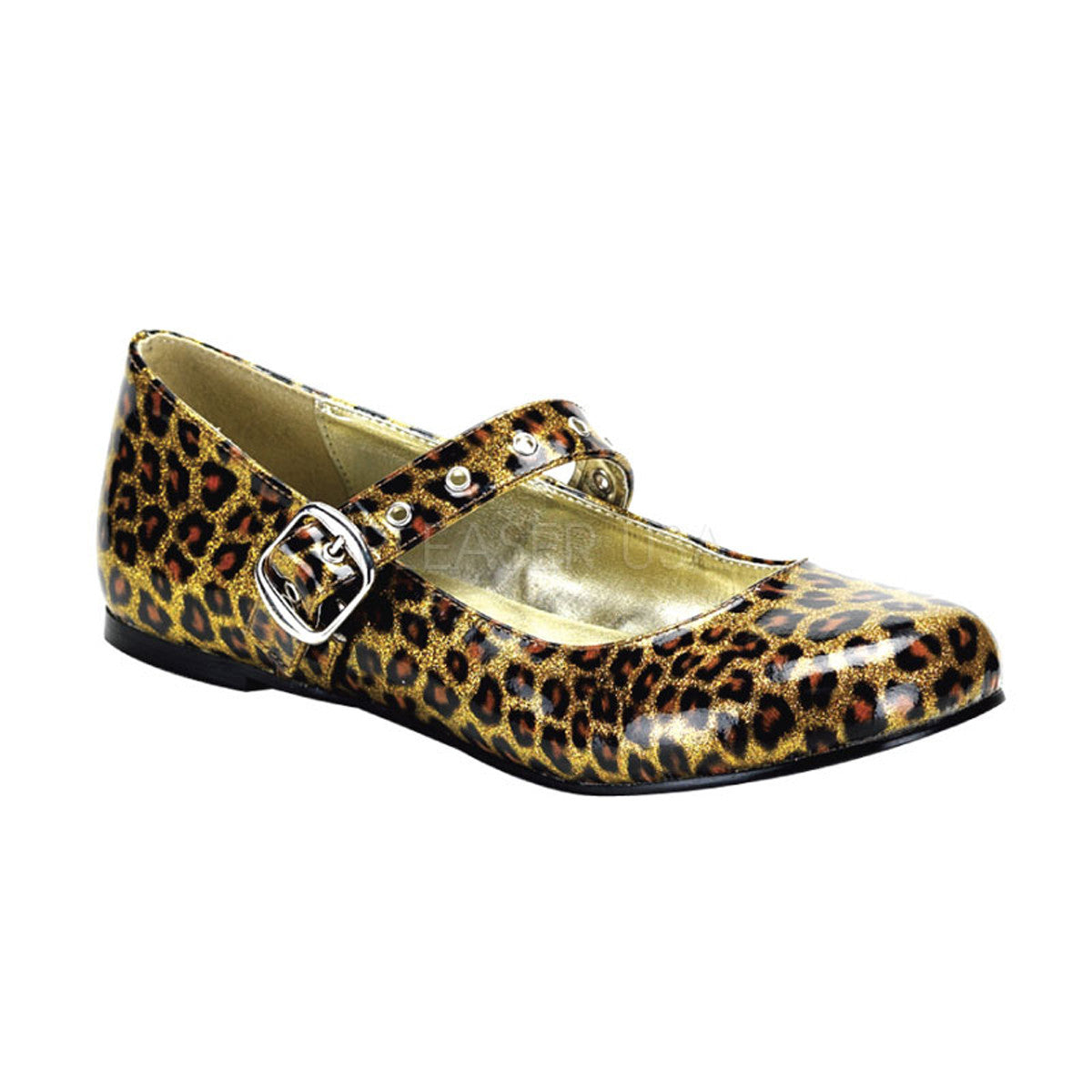 DAISY-04 Leopard Pearlized Glitter Shoes