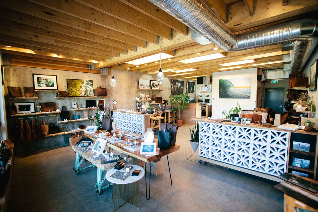 market canvas studio & shop called The factory in Tofino, BC