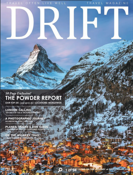 Drift Travel Features Market Canvas Leather FALL 2017 - magazine cover page