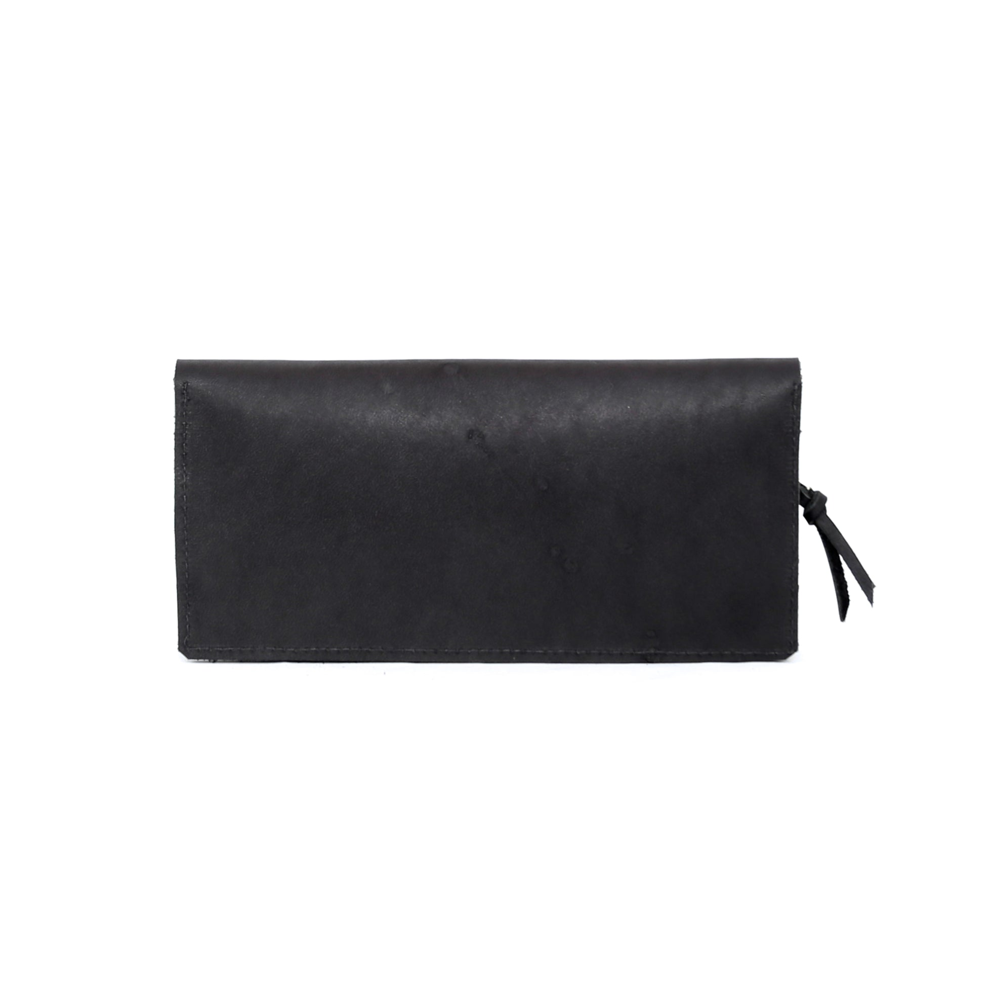 Travel Wallet in Black Leather - handcrafted by Market Canvas Leather in Tofino, BC, Canada