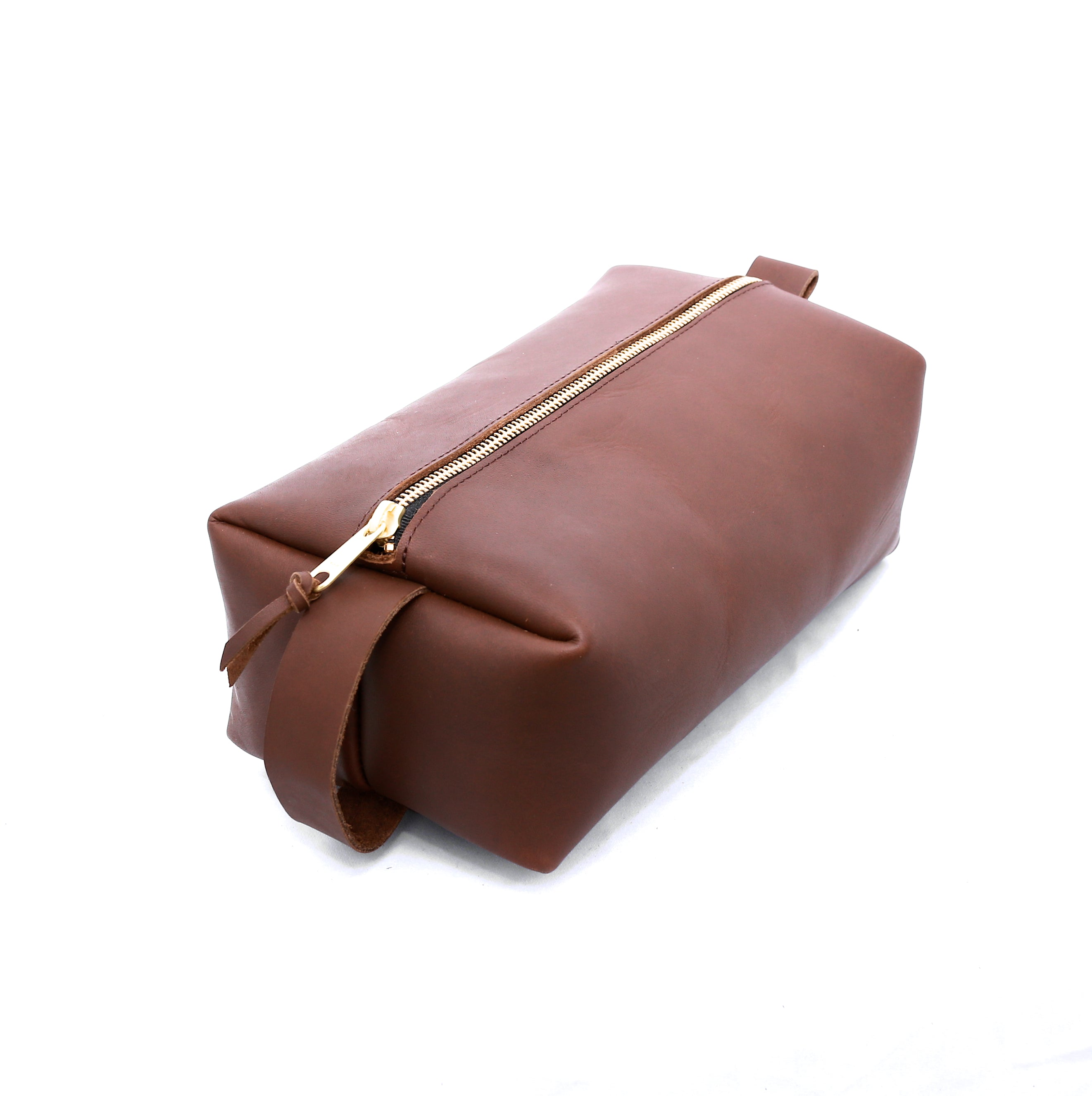 Dopp Kit Leather - handcrafted by Market Canvas Leather in Tofino, BC, Canada