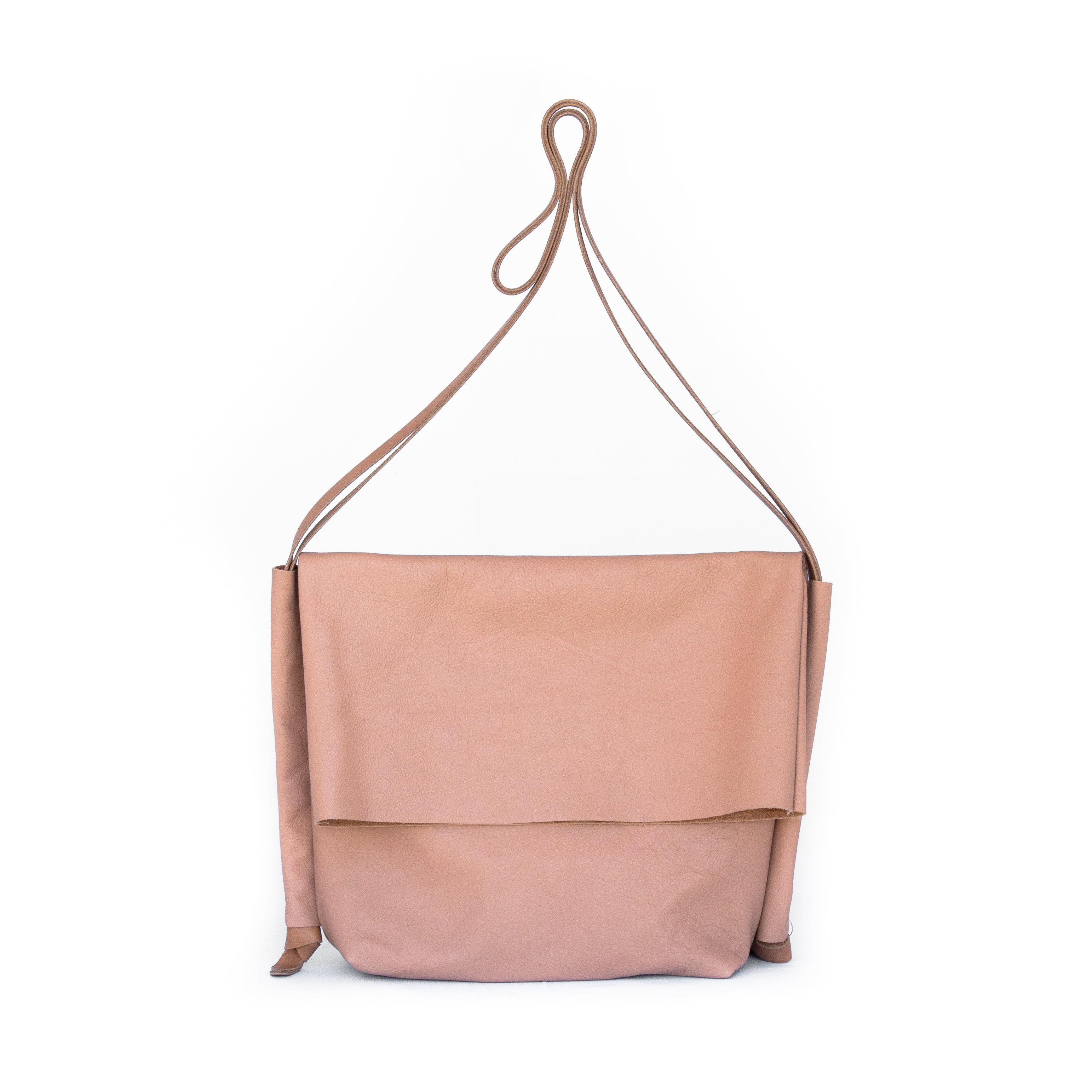 Flip Bag in Blush Leather - handcrafted by Market Canvas Leather in Tofino, BC, Canada