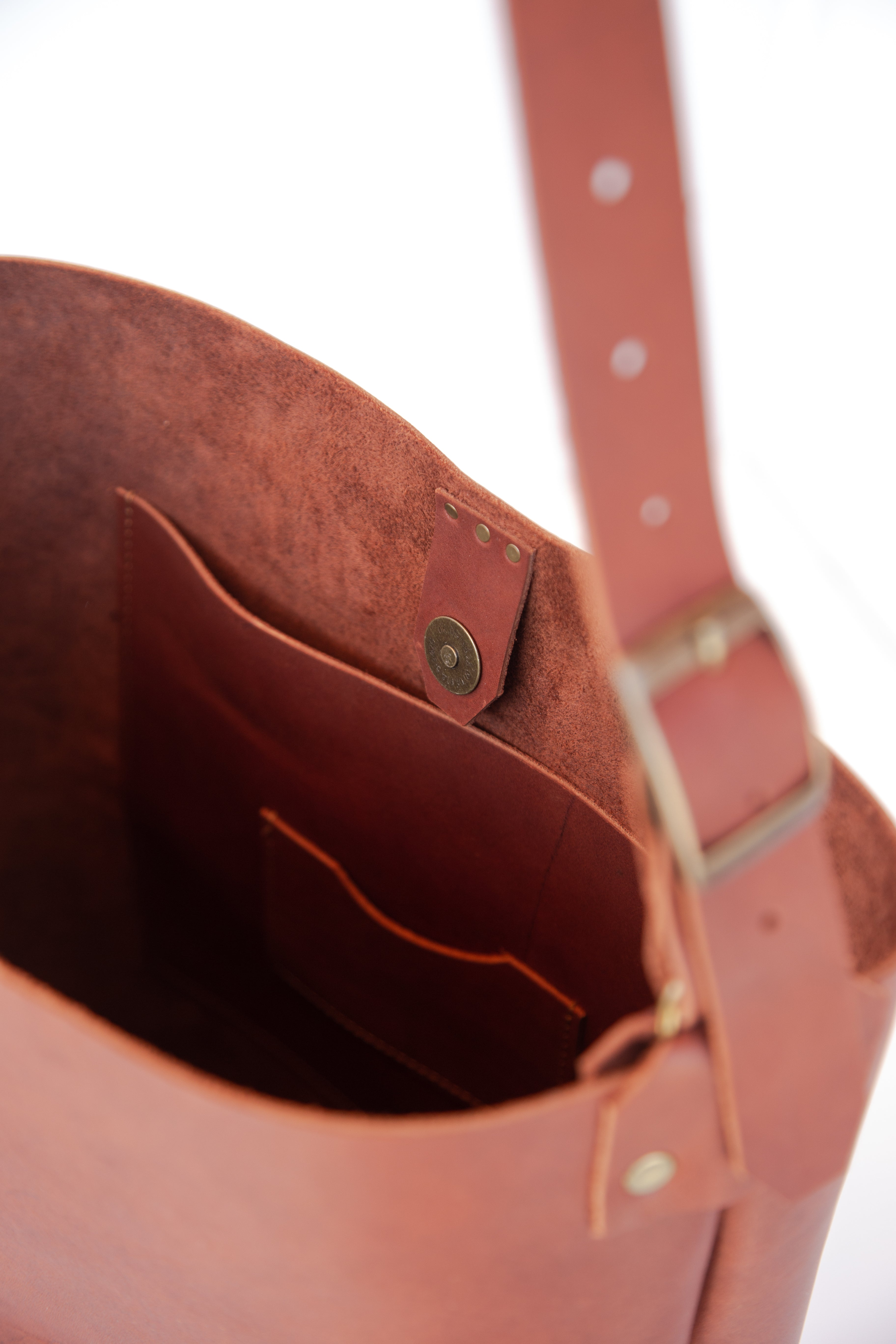 Lady Bag in Cognac Leather - handcrafted by Market Canvas Leather in Tofino, BC, Canada