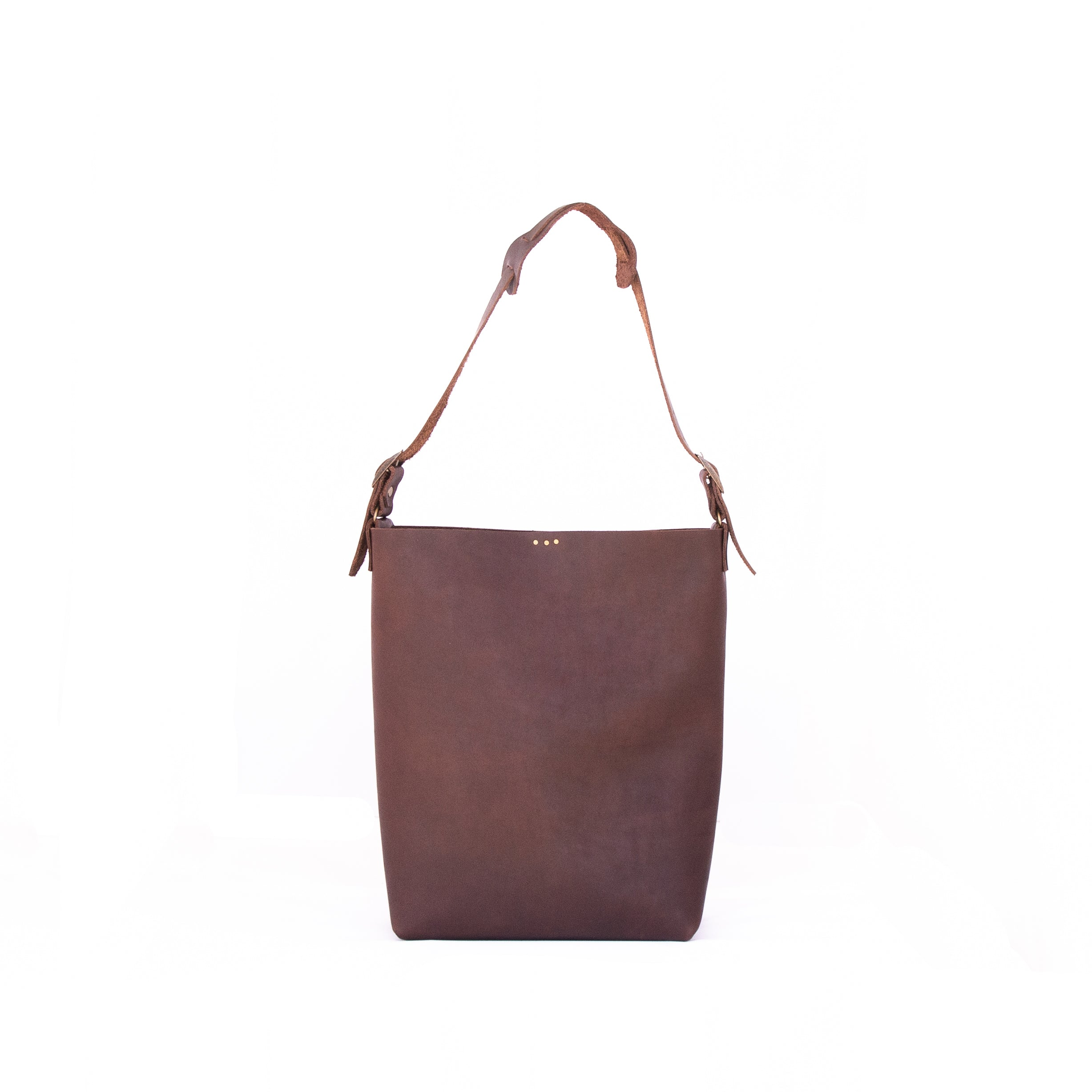 Lady Bag in Brown Leather - handcrafted by Market Canvas Leather in Tofino, BC, Canada