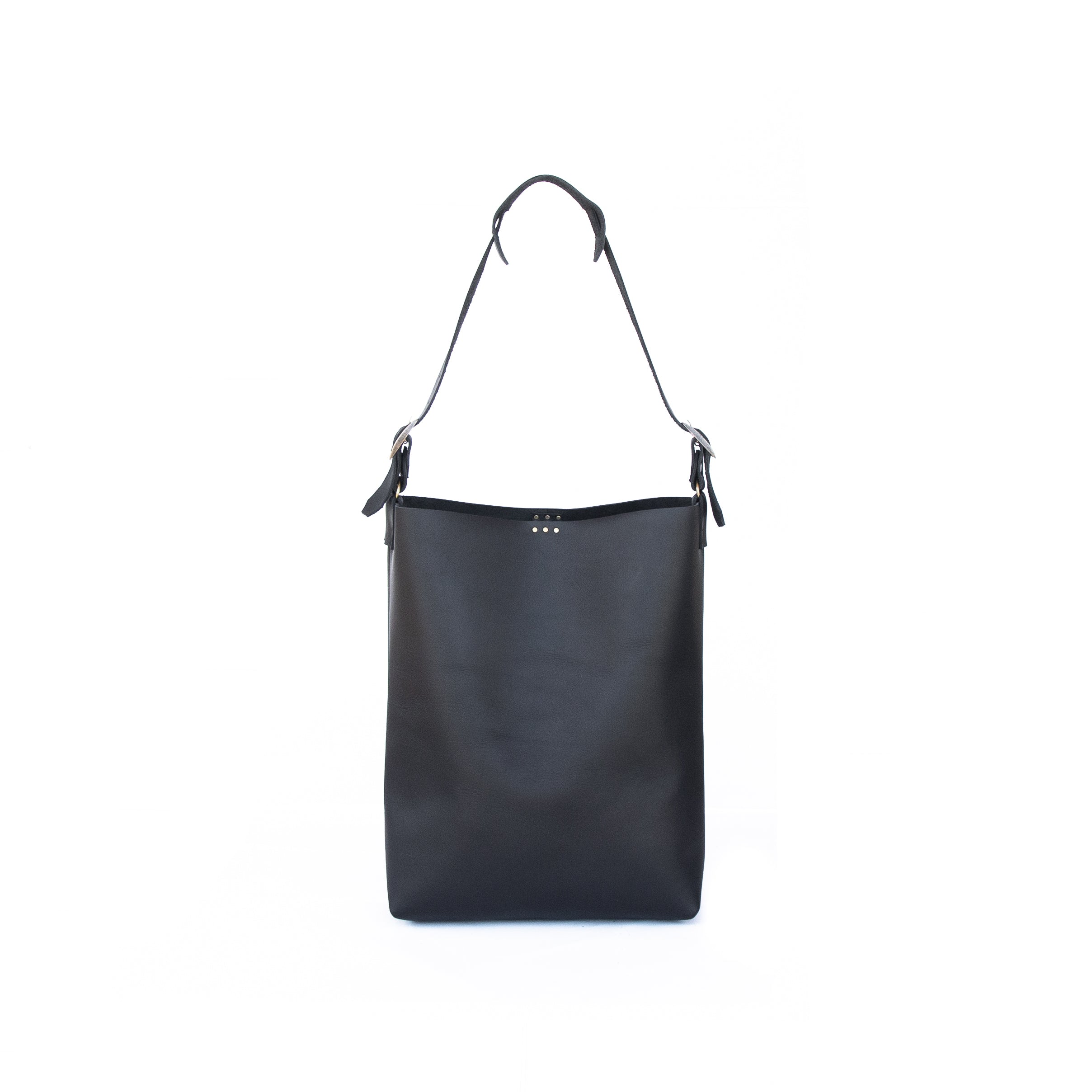 26332e49c SELECTED Lady Bag in Black Leather - handcrafted by Market Canvas Leather  in Tofino, BC,