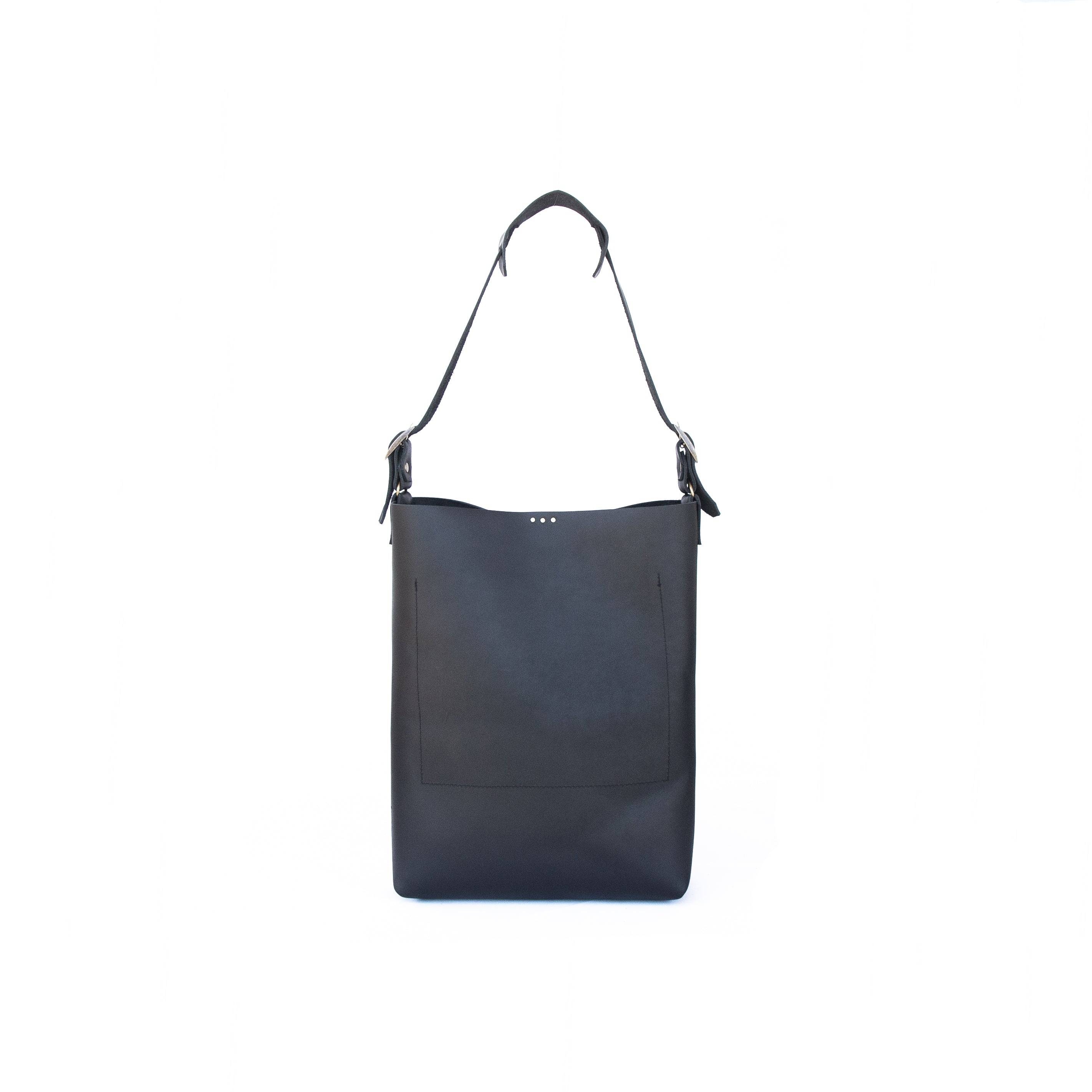 Lady Bag in Black Leather - handcrafted by Market Canvas Leather in Tofino, BC, Canada