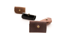 Ear Bud holders Leather - handcrafted by Market Canvas Leather in Tofino, BC, Canada
