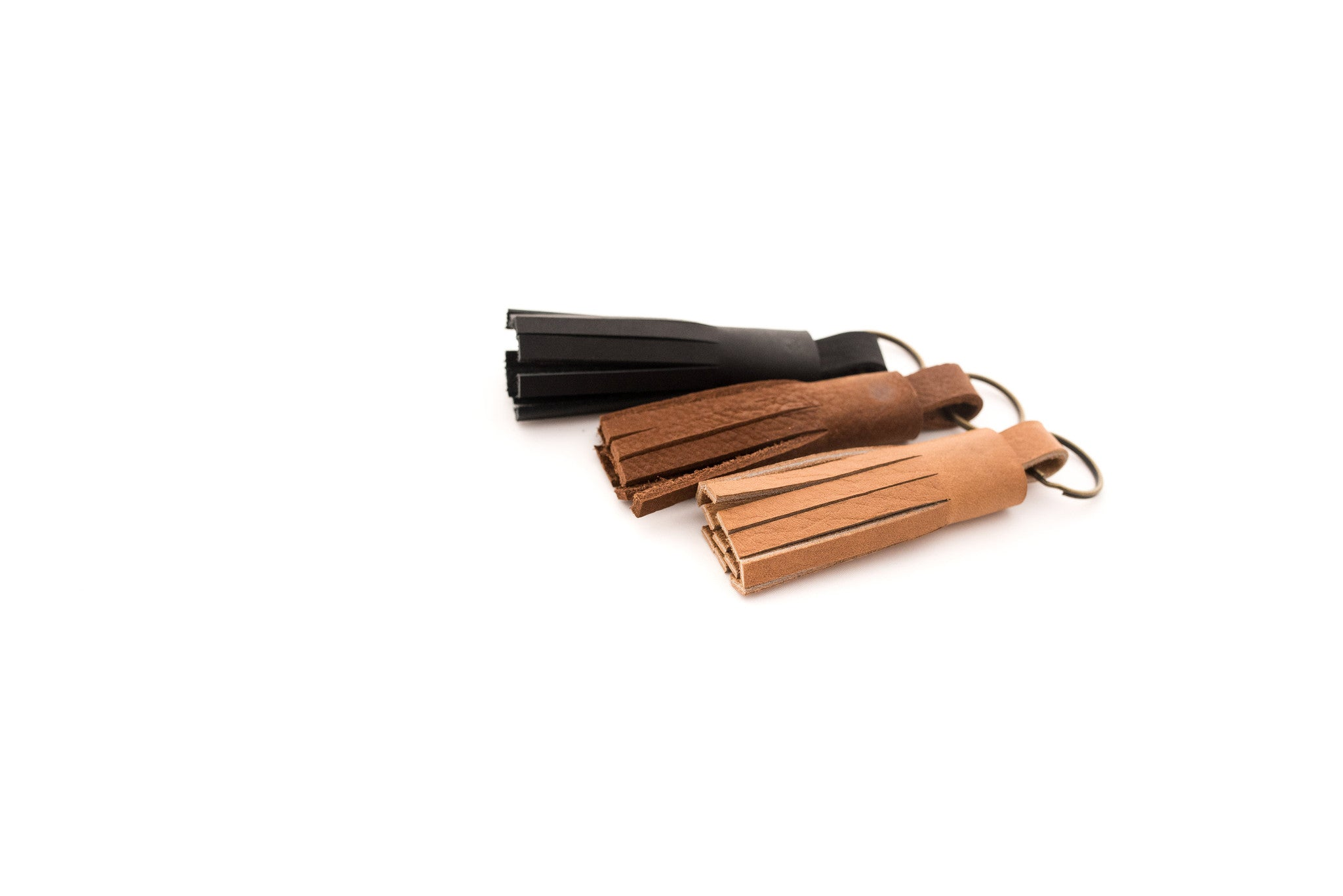 Tassel Key Chain - Small Leather - handcrafted by Market Canvas Leather in Tofino, BC, Canada