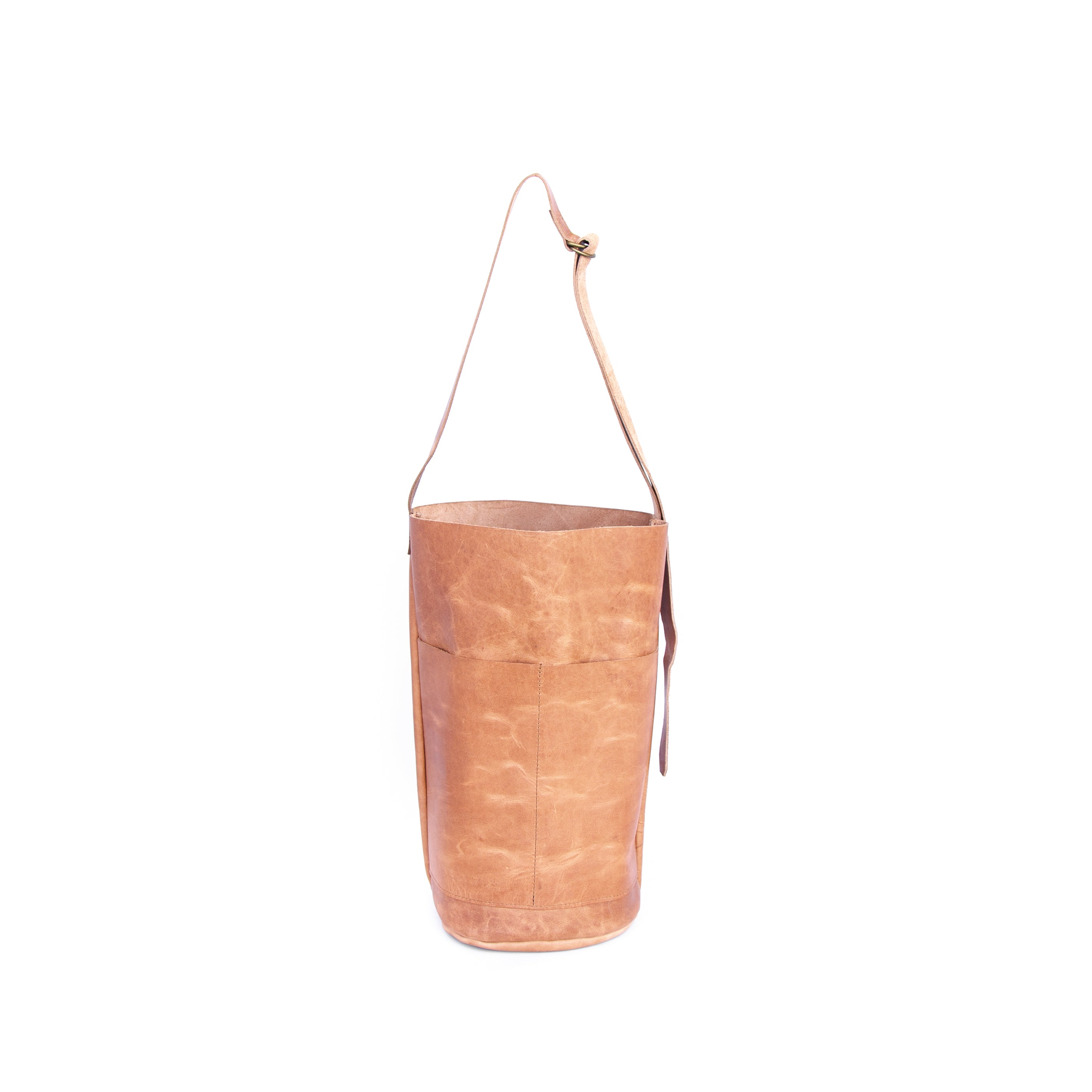 The Back Pack in Tan Leather - handcrafted by Market Canvas Leather in Tofino, BC, Canada