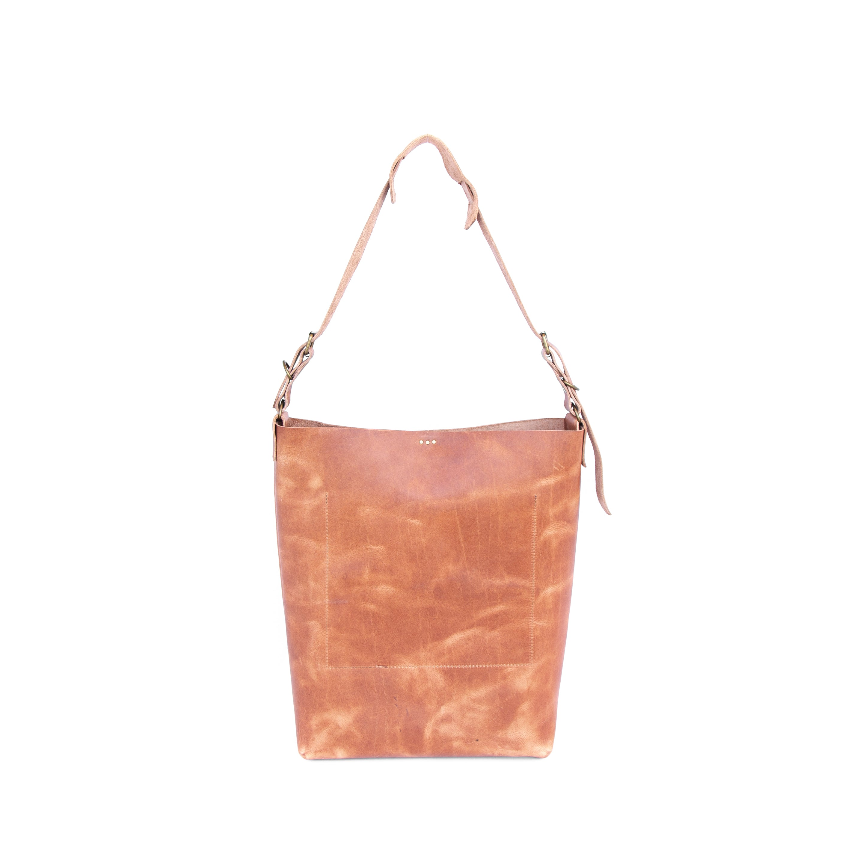 Lady Bag in Oiled Veg Tan Leather - handcrafted by Market Canvas Leather in Tofino, BC, Canada