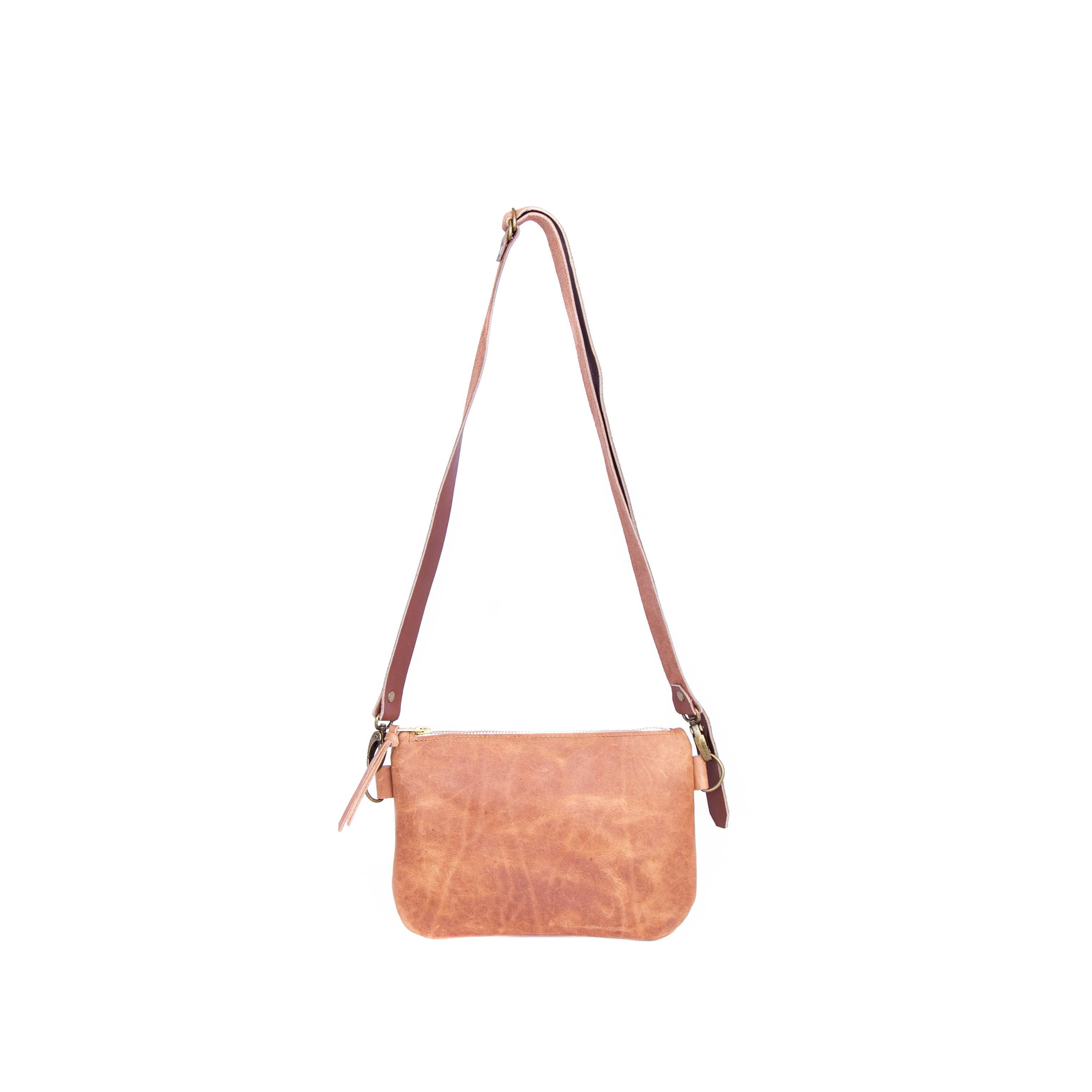 The Dime Bag in Oiled Veg Tan Leather - handcrafted by Market Canvas Leather in Tofino, BC, Canada