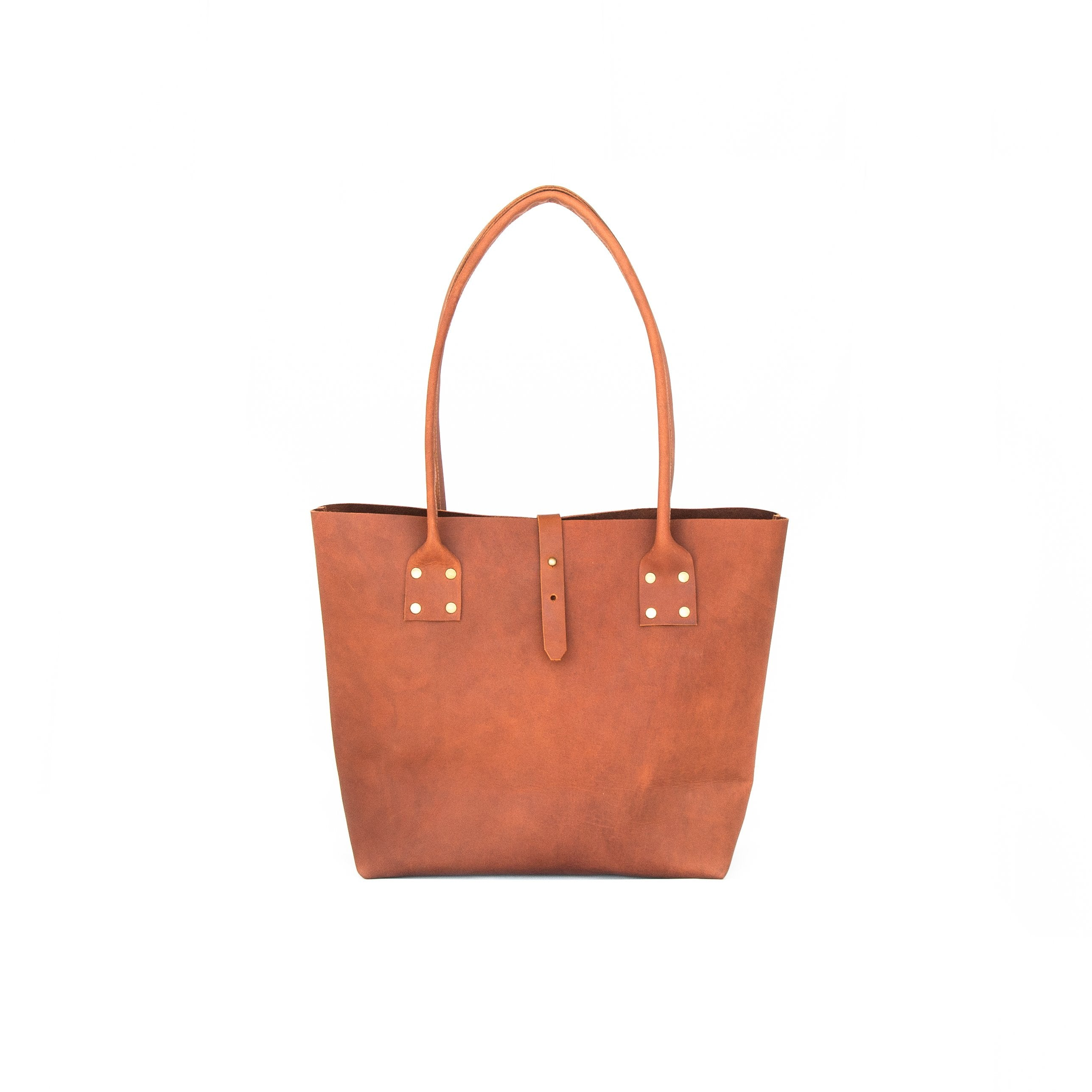 Refined Tote Leather - handcrafted by Market Canvas Leather in Tofino, BC, Canada