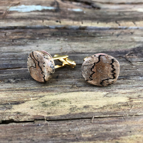 Spalted Wood Cuff Links