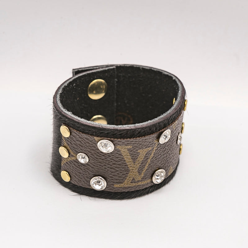 Upcycled Louis Vuitton Cowhide Cuff