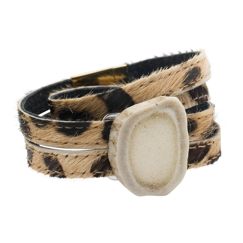 Ballerina Wrap Bracelet with Antler Centerpiece