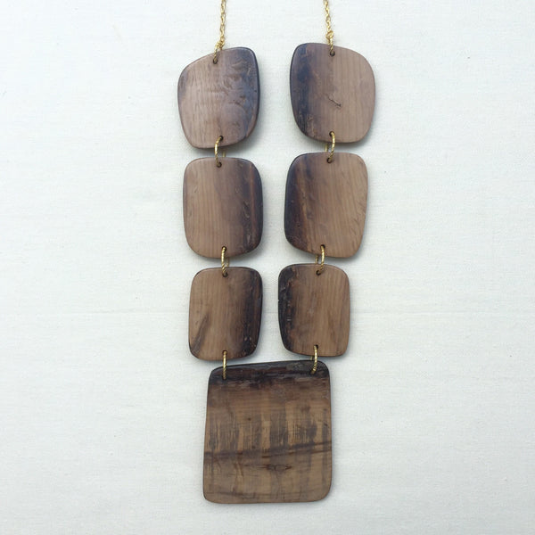 Phoenix Wood Necklace
