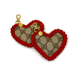 Red heart designer keyfob