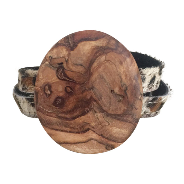 Ballerina Wrap Bracelet with Spalted Wood centerpiece