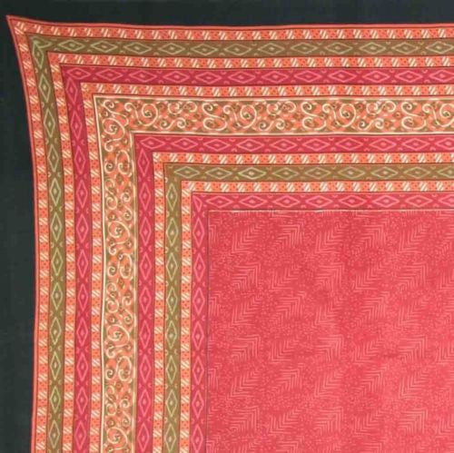 CLEARANCE SALE Calico Print Tapestry Throw Tablecloth Coverlet 100% Cotton 60x60