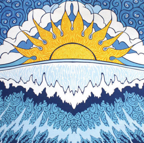 Handmade 100% Cotton Sun Wave Surf Tapestry Tablecloth Spread 60x90 Dorm Beach - Sweet Us