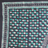 Handmade Cotton Batik Tulsi Leaf Mandala Tapestry Tablecloth Spread Green Queen
