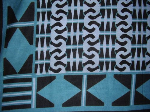 Handmade Cotton Endless Geometric Tapestry Tablecloth Coverlet Spread Teal Twin - Sweet Us