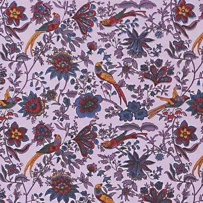 Handmade Birds of Paradise Tapestry Bedspread Coverlet 100% Cotton Lavender Full