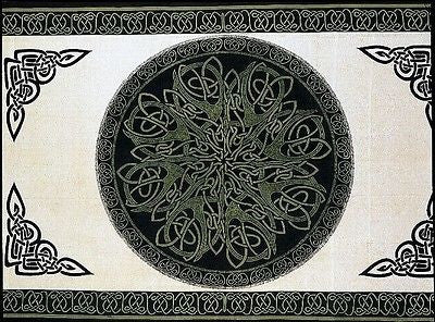 CLEARANCE SALE 100% Cotton Celtic Circle Wheel Of Life Tapestry Coverlet Full - Sweet Us