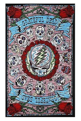 Grateful Dead 3D Mexicali Sugar Skulls Tapestry Throw Bedspread Dorm Beautiful - Sweet Us