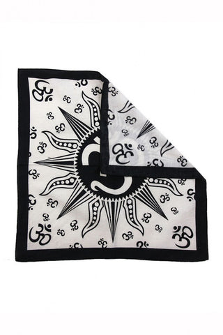Soft Cotton Om Sun Bandana Scarf Headscarf 22 x 22 inches