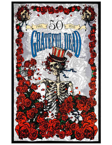 Grateful Dead 50th Anniversary Tapestry Wall Art Huge Poster 60x90 Beach Sheet - Sweet Us