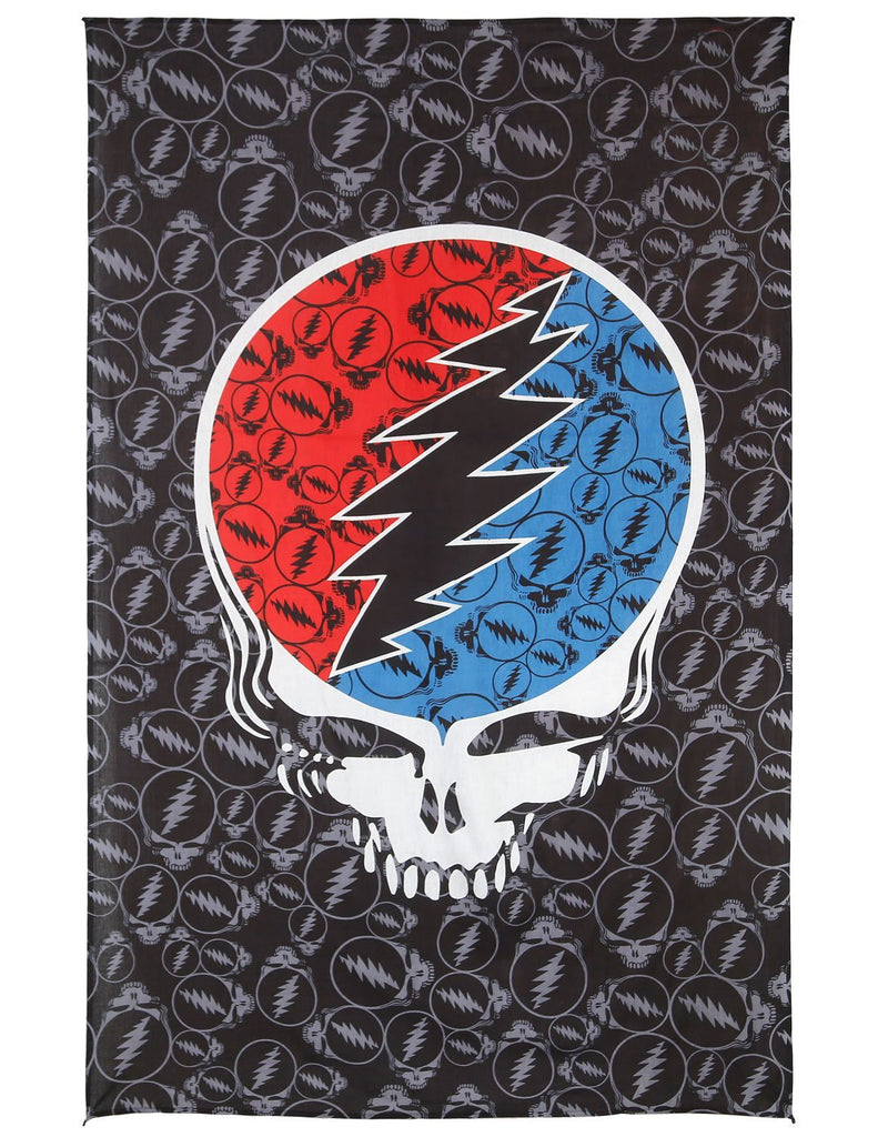 Grateful Dead Steal Your Face Huge Tapestry Wall Art Beach Sheet 52x80 inches - Sweet Us