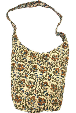 Handmade Cotton Kalamkari Block Print Hobo Shopping Work Tote Bag 14x14 - Sweet Us